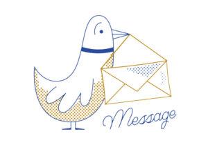 Почтовый голубь и письмо